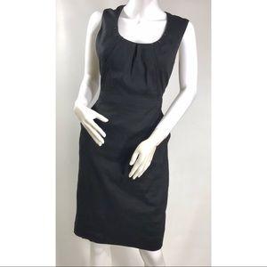 Tahari Black Linen Blend Sleeveless Sheath Dress S